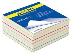 Блок паперу для нотаток Веселка 80х80х30мм, не скл. BM.2233 ТМBUROMAX