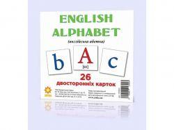 Картки міні Англійська абетка (110х110 мм) 289183 ТМРАНОК