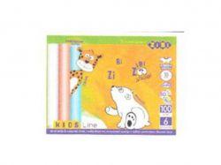 Крейда кругла 100шт (80 біл. 20 коль.), картонна коробка ZB.671899 ТМZiBi