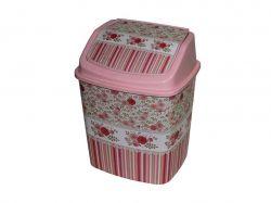 Відро д/сміття 5л кач.кришка Вінтаж рожевий Elif ТМELIF