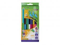 Олівці кольорові Double, 12 кольорів, KIDS Line ZB.2463 ТМZIBI