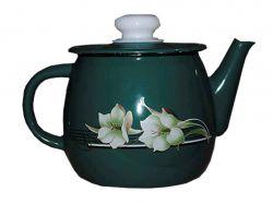Чайник емальований 1л/4 Бірюзова лілія (I2707/4) ТМIDILIA