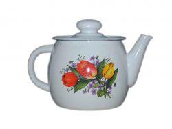 Чайник емальований 1л/2 Весняний букет (I2707/2) ТМIDILIA