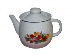 Чайник емальований 1л/3 Весняний букет рожевий (I2707/3) ТМIDILIA