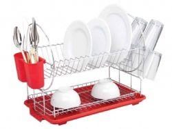 Сушарка для посуду двохярусна СВ853, 50х23,5х37 см ТМCON BRIO