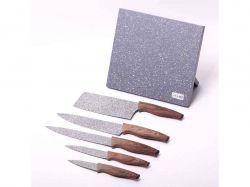 Набір ножів 6 пр. з нерж. сталі (5 ножівпідставка) 5045 ТМKAMILLE