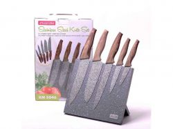 Набір ножів 6 пр. з нерж. сталі (5 ножівпідставка) 5046 ТМKAMILLE