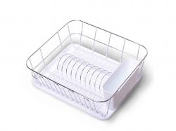 Сушарка для посуду 37*33*13,5см. (бiлий) 0763D ТМKAMILLE