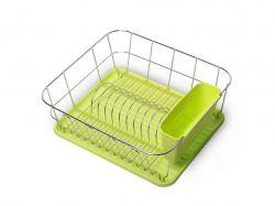Сушарка для посуду 37*33*13,5см. (зелений) 0763A ТМKAMILLE