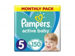 Пiдгузки Active Baby Junior (1116кг) 150шт ТМPampers - Картинка 1