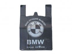 Пакет-майка 40х60 БМВ чорний середній (50 шт в уп) ТМТрадиции качества