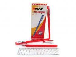 Ручка гел. Wiser Choice 0,6мм (12 шт/уп) червона choice-rd ТМУкраїна