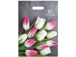 Пакет з прорізною ручкою Тюльпани 220*300 (50 шт в уп) ТМПластик Пак