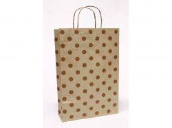 Пакет подарунковий Крафт 24 * 37 * 10см - Париж на бурому ТМУпаковкин