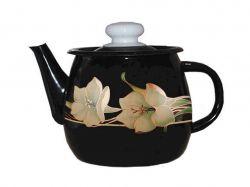 Чайник емальований 1л/4 Чорна лілія (I2707/4) ТМIDILIA