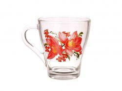 Чашка скляна Грація 250мл Орхідея 250 мл. ТМОСЗ