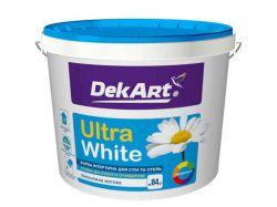 Фарба інтерєрна для стін та стель ВДА Ultra White 4кг біла матова ТМDEKART