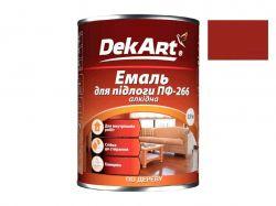 Емаль алкідна ПФ-266 червоно-коричнева - 0,9 кг. ТМDekArt