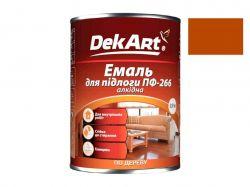 Емаль алкідна ПФ-266 жовто-коричнева - 0,9 кг. ТМDekArt