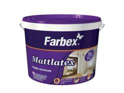 Фарба латексна д/зов/внут. робіт Mattlatex біла матова -14,0 кг ТМFarbex