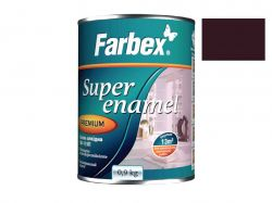 Емаль алкідна ПФ-115П темно-коричнева -0,9 кг. ТМFarbex