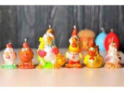 Свічки великодні декоративні - Петушки малі ТМУПАКОВКИН