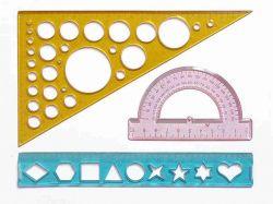 Набір геометричний 4-х предм. (транспортир, трикутники, лінійка) 0097 ТМIrbis