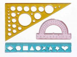 Набір геометричний з 3-х предм.(транспортир, трикутник, лінійка) 0096 ТМIrbis