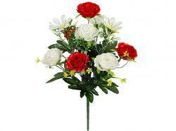 Букет штучний троянд атласних, 136 53см г-10 ТМКитай