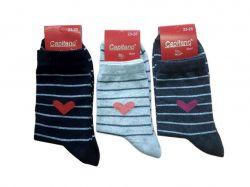 Шкарпетки жіночі (10 пар в уп) смужка р.23 ТМCapitano