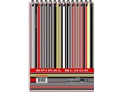 Блокнот А5 MEGPOLIS спір. 60арк. карт. обкладинка ВА5460-004 ТМГРАФІКА