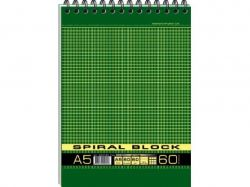Блокнот А5 SPIRAL спір. 60арк. карт. обкладинка ВА5460-003 ТМГРАФІКА