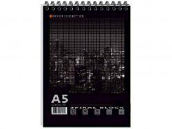 Блокнот А6 MEGPOLIS спір. 60арк. карт. обкладинка ВА6460-004 ТМГРАФІКА