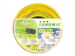 Шланг для поливу EQNOMIC 5/8 25м жовтий (бухта) ТМINTERHIM