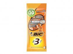 Однор. станок BIC 3 для гоління ACTION (алое) 4шт ТМBIC