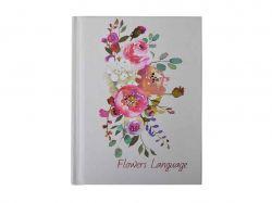 Блокнот FLOWERS LANGUAGE, А-6, 64л, # білий перламутр BM.24671101-31 ТМBUROMAX