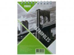 Блокнот на пруж. METROPOLIS, А-6, 48арк. # салатовий BM.24645101-15 ТМBUROMAX