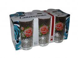 Набір склянок Високі (6*200мл) Троянда 05с1256 ТМОСЗ