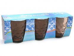 Набір склянок 350мл (3шт) коричневий 533-28 ТМBONADI