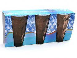 Набір склянок 375мл (3шт) коричневий 533-21 ТМBONADI