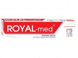 Зубна паста Роял-мед 100мл Активний фтор (червона) ТМКОМБІ