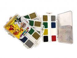 Фарби акварельні медові 8 кольорів БЛИСКАВКА (золотосрібло) ТМТЕТРАДА