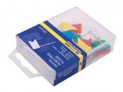 Кнопки-цвяшки кольор. прапорці, 30шт., пласт.контейнер BM.5152 ТМBUROMAX