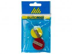 Чинка, кругла пластикова, комплект 2 шт., блістер, BM.4700-99 ТМBUROMAX