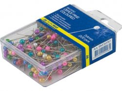 Шпильки кольорові, 34 мм, 200 шт., пласт. контейнер BM.5250 ТМBUROMAX