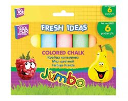 Крейда кольорова JUMBO 6шт в картонній упаковці з підвісом CF02632 ТМCFS