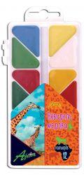 Фарба акварельна медова Africa 12 кольорів, пластик, Economix E60112 ТМCFS