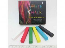 Набір крейди для волосся 6 кольорів 6,5х1х1см 8357-6 ТМКИТАЙ
