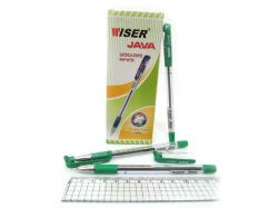 Ручка масляна Wiser Java 0,7мм зелений (12шт) java-gr ТМКИТАЙ
