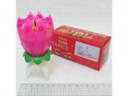 Свічка для торта Квітка музична 12см 6704DSCN ТМКИТАЙ